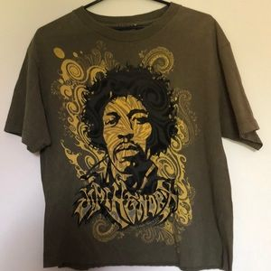 Jimi Hendrix Cropped Graphic Tee